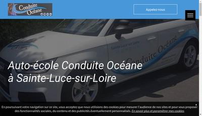 Site internet de Conduite Oceane