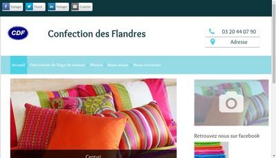 Site internet de Confection des Flandres