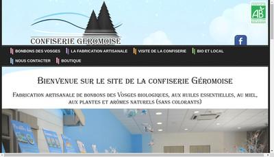 Site internet de Confiserie Geromoise