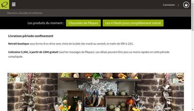 Site internet de Confiserie Riol