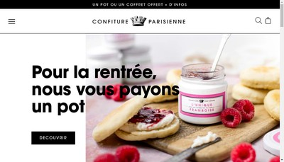 Site internet de Confiture Parisienne