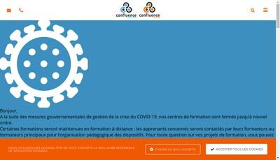 Site internet de Confluence Alsace