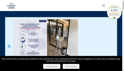 Site internet de Confort Loisirs