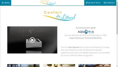 Site internet de Confort du Littoral