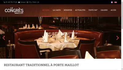 Site internet de Congres Maillot