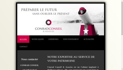 Site internet de Conrad Conseil