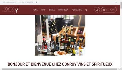 Site internet de Conroy Vins & Spiritueux