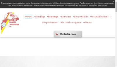 Site internet de Conseil Chauffage