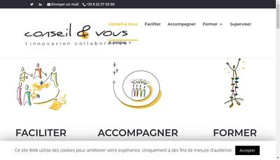 Site internet de Conseil et Vous