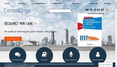 Site internet de Conseilorga