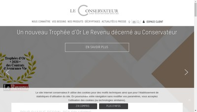 Site internet de Associations Mutuelles le Conservateur