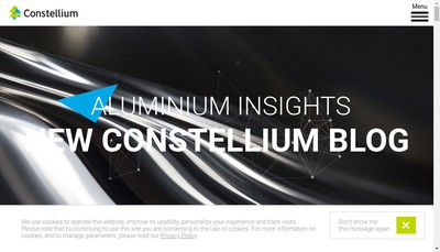 Site internet de C-Tec Constellium Technology Center
