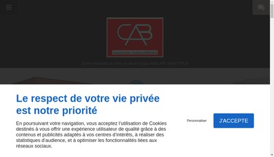 Site internet de Constructions Aveyron Batiment