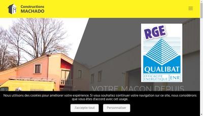 Site internet de SARL Maconnerie Constructions