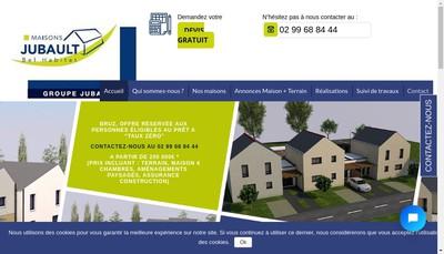 Site internet de Pavillons Jubault