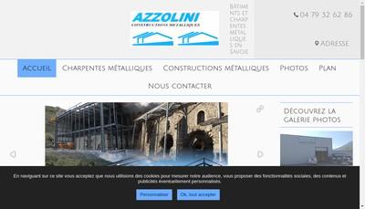 Site internet de Azzolini Constructions Metalliques