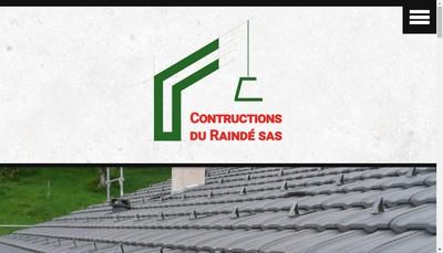 Site internet de Constructions du Rainde