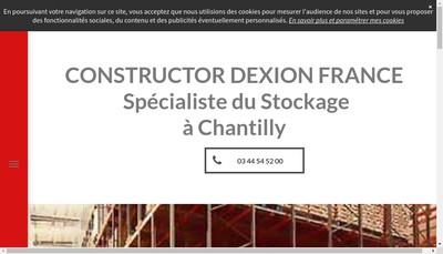 Site internet de Constructor Dexion France