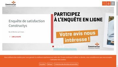 Site internet de Constructys