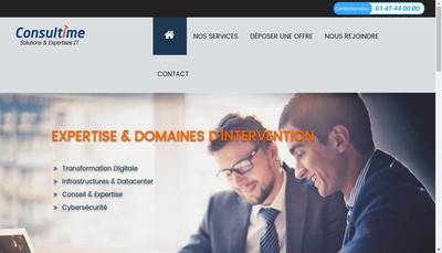 Site internet de Consultime SA