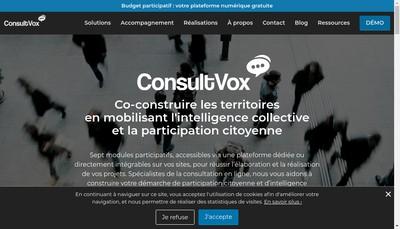 Site internet de Consultvox