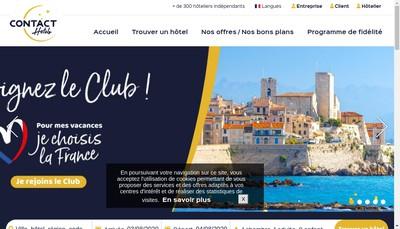 Site internet de Hotel le Chapeau Rouge