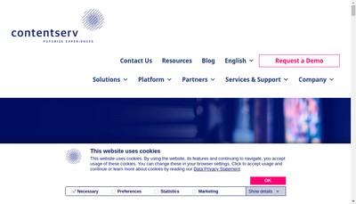 Site internet de Contentserv