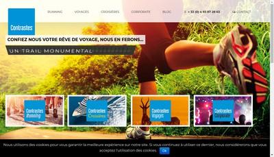Site internet de Contrastes Voyages