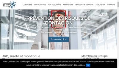 Site internet de Alpes Recherche et Developpement