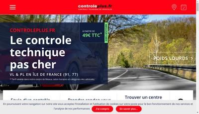 Site internet de Controle Plus Fr