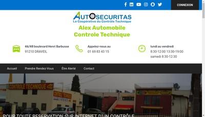 Site internet de Alex Automobile Controle Technique