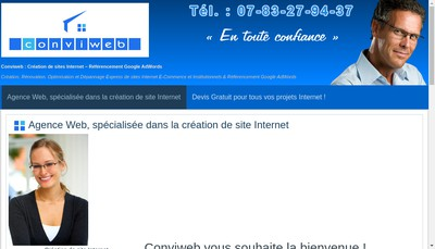 Site internet de Conviweb