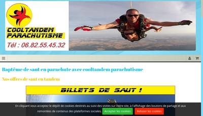 Site internet de Cooltandem Parachutisme