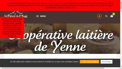 Site internet de Coop Laitiere de Yenne Porte de Savoie