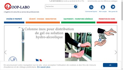 Site internet de Coop Labo