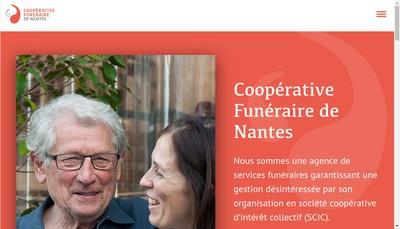 Site internet de Cooperative Funeraire de Nantes