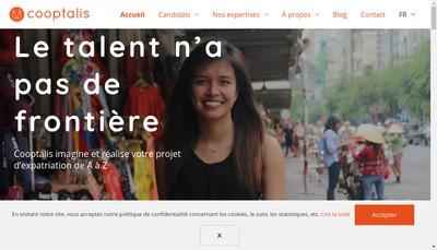 Site internet de Cooptalis