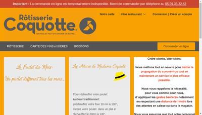 Site internet de Rotisserie Coquotte