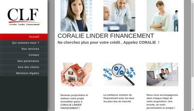 Site internet de Coralie Linder Financement