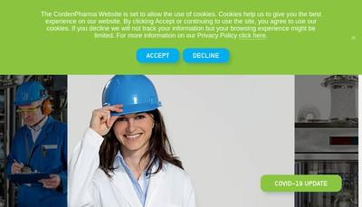 Site internet de Corden Pharma France Holding