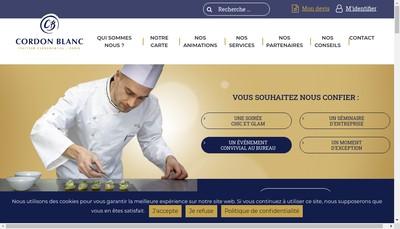 Site internet de Cordon Blanc Receptions