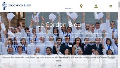 Site internet de Le Cordon Bleu