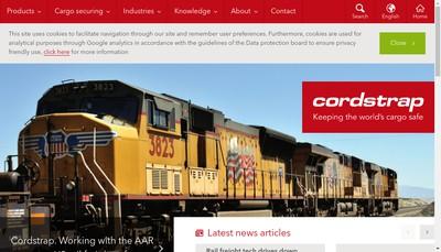 Site internet de Cordstrap
