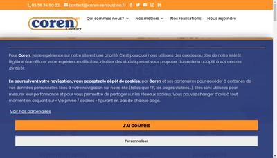Site internet de Coren