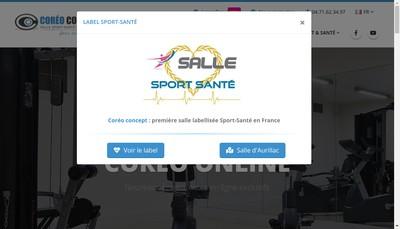 Site internet de SAS Coreo Concept