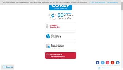 Site internet de Corep