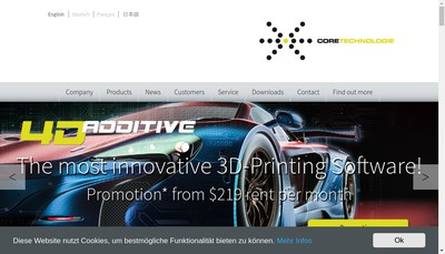 Site internet de Ct Coretechnologie France