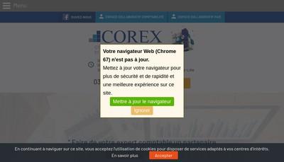 Site internet de Corex