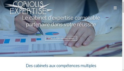 Site internet de Coriolis Audit - Coriolis Expertise - Co