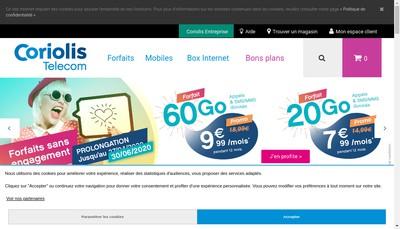 Site internet de Coriolis